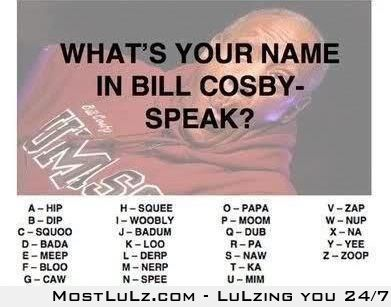 Bill Cosby Name LuLZ
