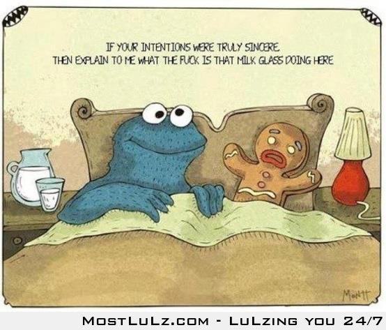 Cookie monster is sincere LuLz