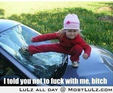 Don't fuck with the little ones LuLz