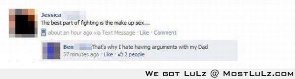 Awkward comment is awkward LuLz
