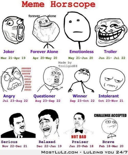 Meme Horoscopes LuLZ