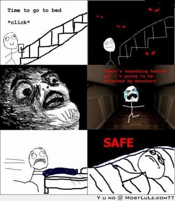 The dark is scary LuLz