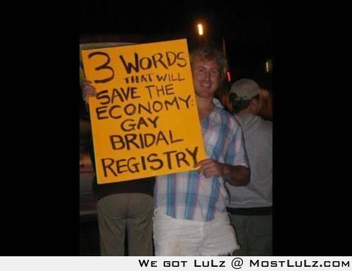 Gay Bridal Registry LuLz