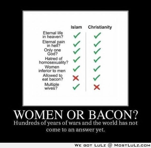 Women or Bacon LuLz