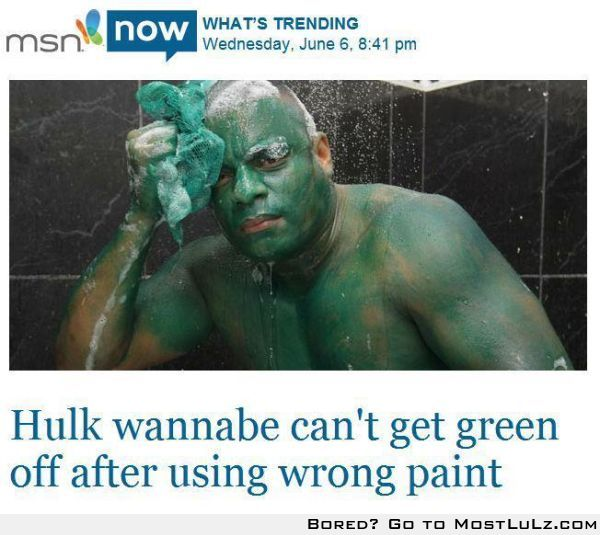 It's not easy being un-greened lulz