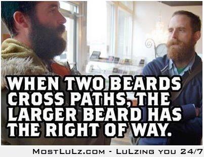 Beard etiquette LuLz