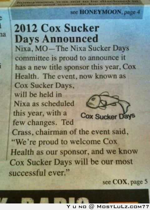 Cox Sucker Days are Win LuLz