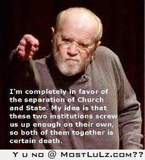 George Carlin Church and State