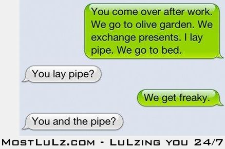 Laying some pipe LuLz