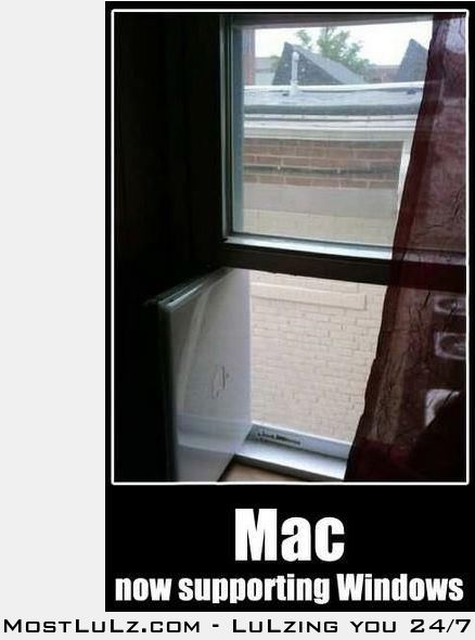 About the only thing a Mac does well LuLz