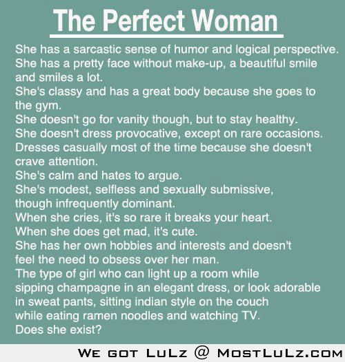 The perfect woman LuLz