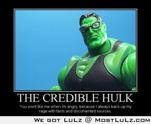 The credible hulk LuLz