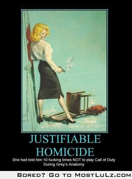 Justifiable Homicide LuLz