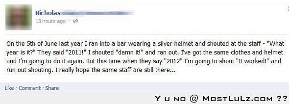 We should all do this and watch people report time travelers LuLz