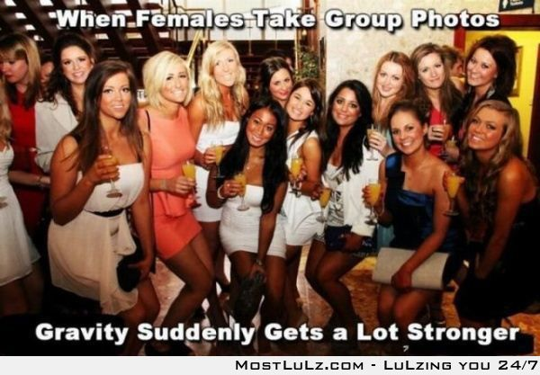 Female Group Photos Mess with Gravity