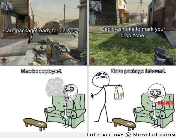 care package to deployed smoke LuLz