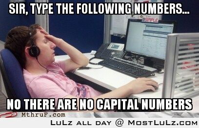 There are no capital numbers LuLz