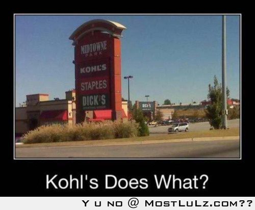 Kohl's Does What LuLz