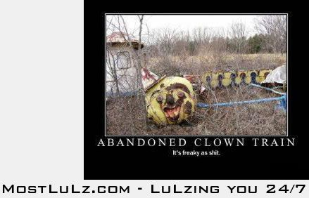 Freaky clown train LuLz