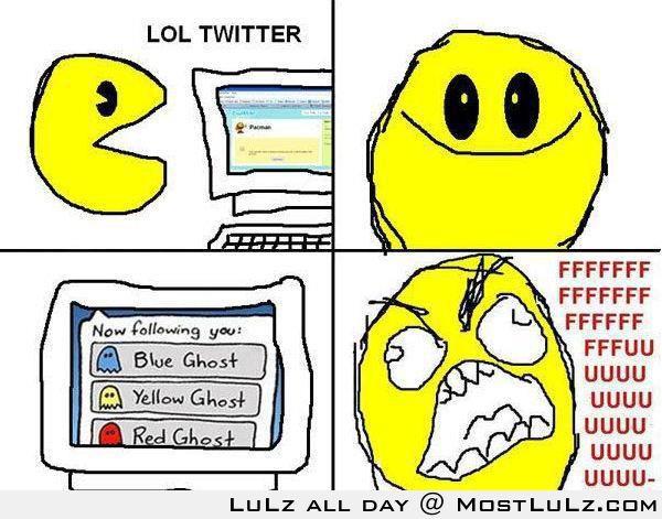 Pac Man Twitter LuLz