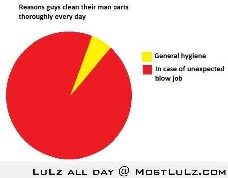 Reasons Guys Clean Their Junk LuLz