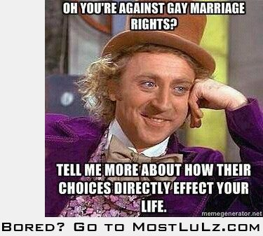 Gay marriage rights LuLz