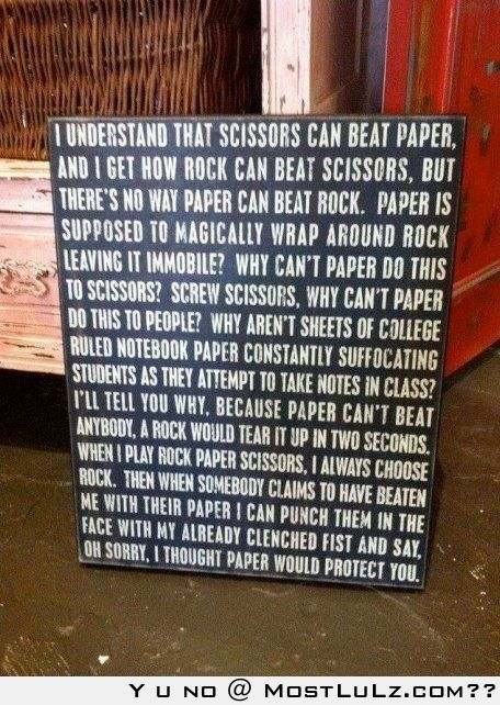 Rock, Paper, Scissors, LuLz
