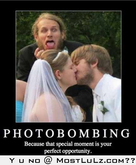 Wedding Photobombing