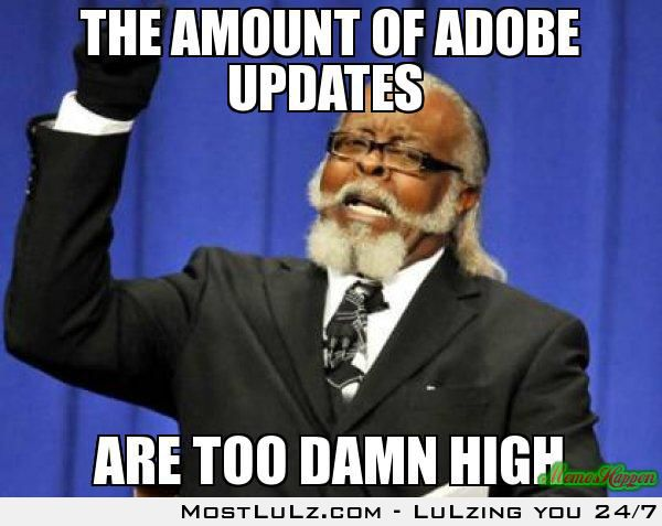 The Amount of Adobe Updates